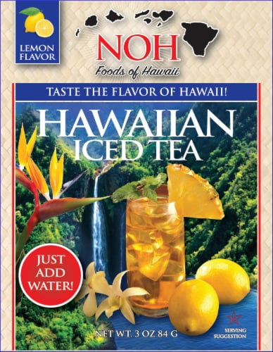 NOH of Hawaii Hawaiian Iced Tea Mix Perspective: front