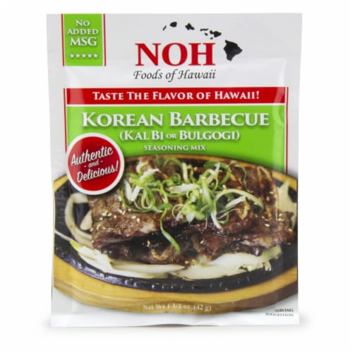 NOH of Hawaii Korean Barbecue Seasoning Mix Perspective: front