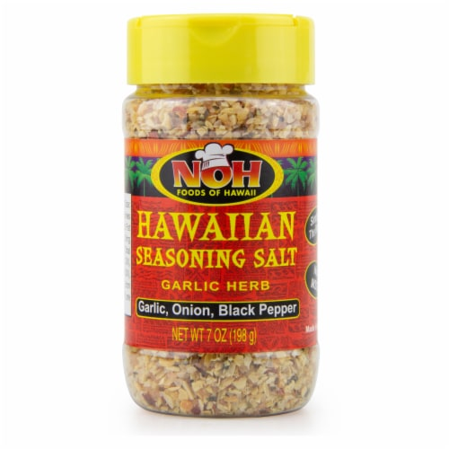 NOH Garlic Herb Hawaiian Seasoning Salt Perspective: front