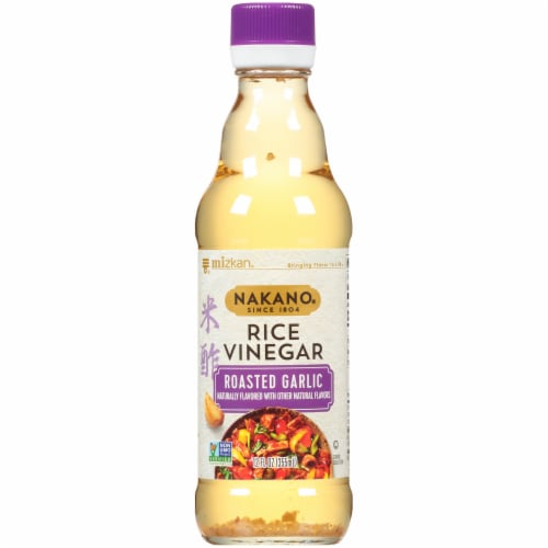 Mizkan Nakano Roasted Garlic Seasoned Rice Vinegar Perspective: front