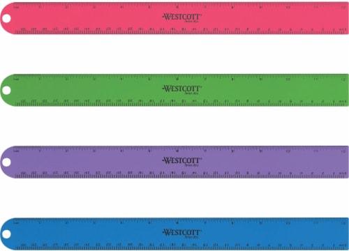 Westcott Aluminum Ruler - Assorted Perspective: front