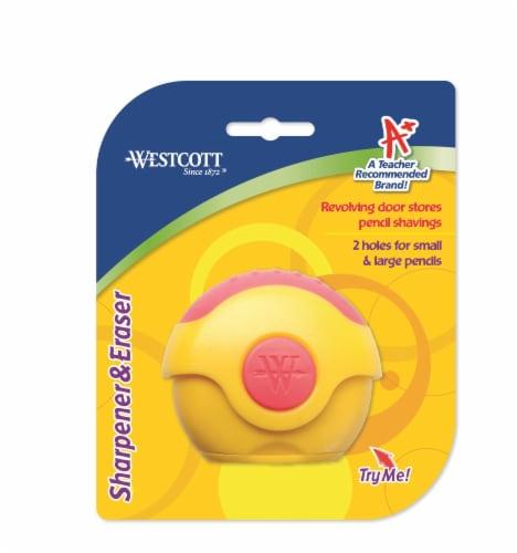 Westcott Pencil Sharpener & Eraser Perspective: front