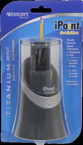 Westcott iPoint Evolution Pencil Sharpener - Black Perspective: front