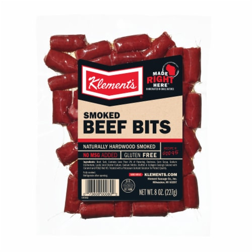 Klement's Smoked Beef Bits Perspective: front