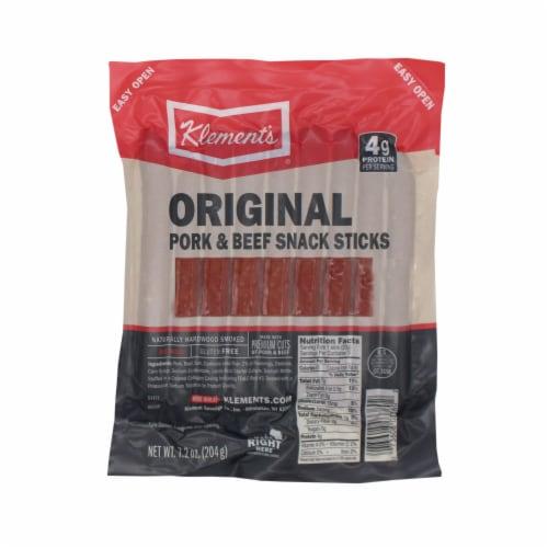 Klement's Original Beef & Pork Snack Sticks Perspective: front
