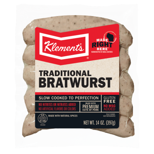 Klement's® Fully Cooked Bratwurst Perspective: front