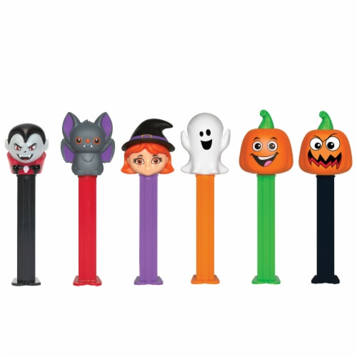 PEZ Halloween Assorted Candy Dispensers Perspective: front