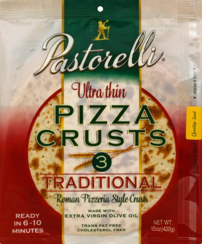 Pastorelli Ultra Thin Traditional 12 Inch Pizza Crusts 3 Count Perspective: front