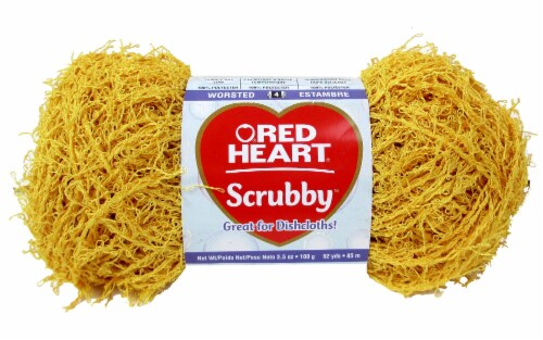 Red Heart Scrubby Yarn - Duckie Perspective: front