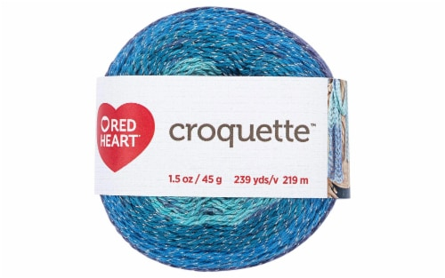 C&C Red Heart Croquette Yarn 1.58oz Tidepool Perspective: front