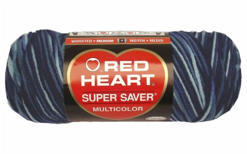 Red Heart® Super Saver® Shaded Dusk Yarn Perspective: front