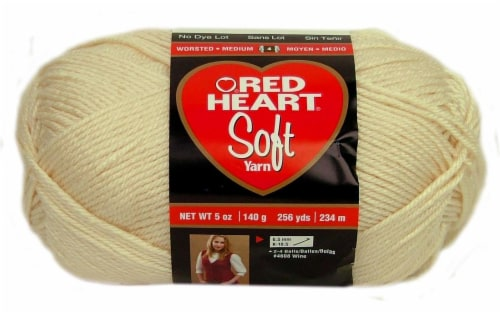 Red Heart Soft Yarn - Off White Perspective: front