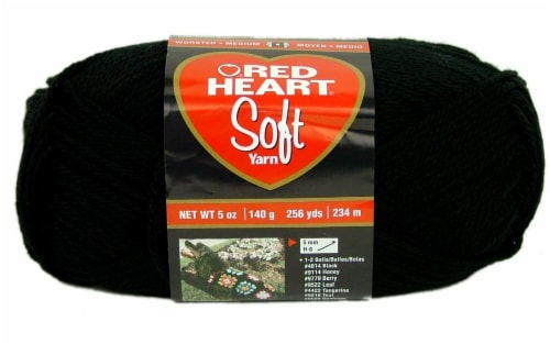 Red Heart Soft Yarn - Black Perspective: front