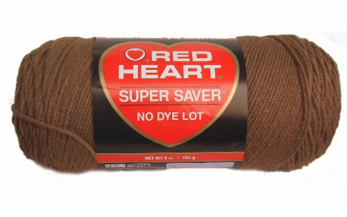 Red Heart Super Saver Yarn - Cafe Latte Perspective: front