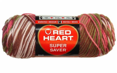 Red Heart Super Saver Yarn - Pink Camo Perspective: front