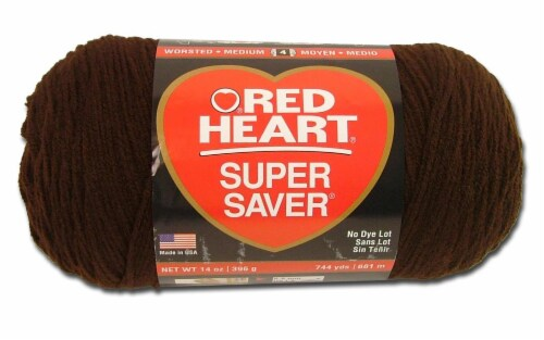 C&C Red Heart Super Saver Jumbo Yarn 14oz Coffee Perspective: front