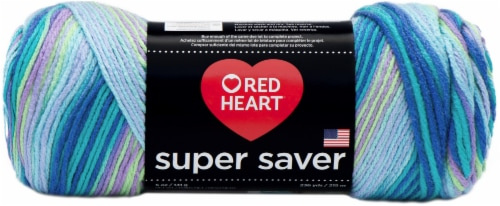 Red Heart® Super Saver Wildflowers Yarn Perspective: front