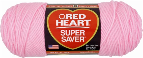 Red Heart Super Saver Yarn - Petal Pink Perspective: front