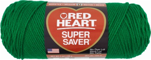 Red Heart Super Saver Yarn - Paddy Green Perspective: front