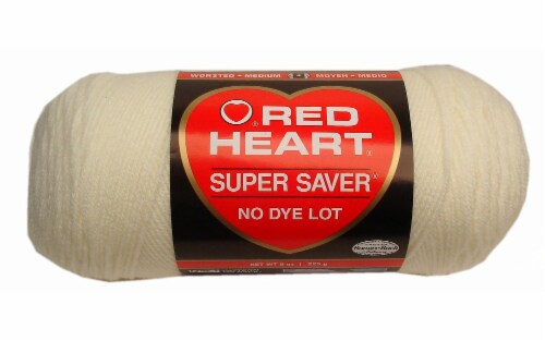 Red Heart Super Saver Yarn - Soft White Perspective: front