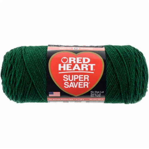 Red Heart Super Saver Yarn-Hunter Green Perspective: front