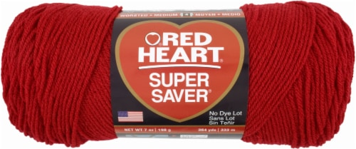 Red Heart Super Saver Yarn - Cherry Red Perspective: front