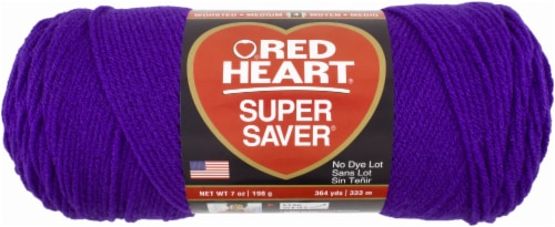 Red Heart Super Saver Yarn - Amethyst Perspective: front