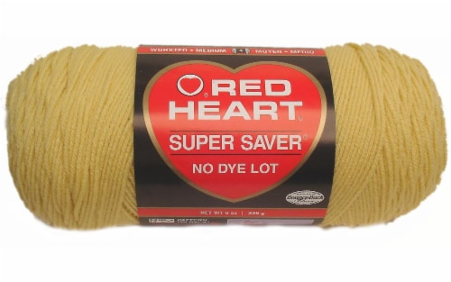 C&C Red Heart Super Saver Yarn 7oz Cornmeal Perspective: front