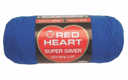Red Heart Super Saver Yarn - Blue Perspective: front