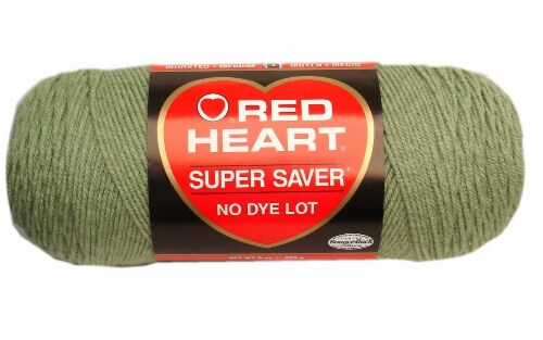 Red Heart Super Saver Yarn - Frosty Green Perspective: front