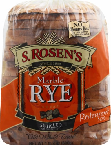 S. Rosen's Swirled Marble Rye Bread Perspective: front