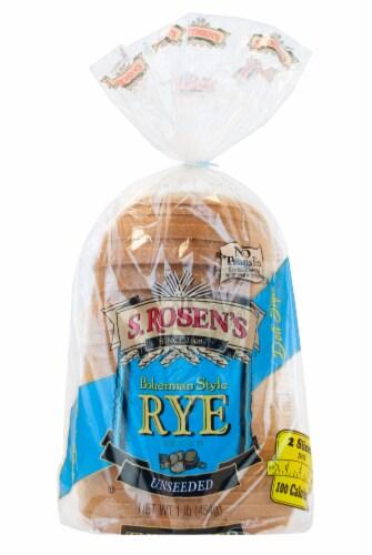 S. Rosen's Bread Thin-Sliced Plain Seedless Rye Bread Perspective: front