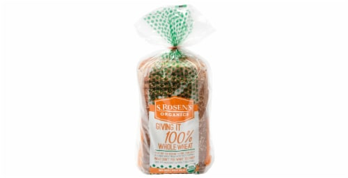 S. Rosen's Giving It 100% Whole Wheat Bread Perspective: front