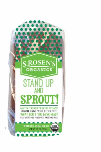 S. Rosen's Organic Stand Up and Sprout Wheat Bread Perspective: front