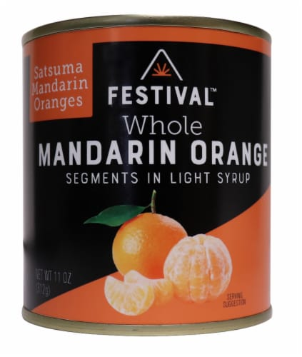 Festival Mandarin Oranges in Light Syrup Perspective: front