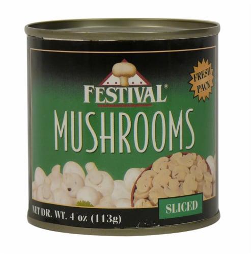 Festival Sliced Mushrooms Perspective: front