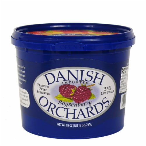 Danish Orchards Imported Boysenberry Preserves Perspective: front