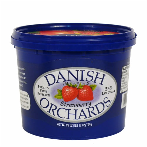 Danish Orchards Strawberry Fruit Preserves Perspective: front