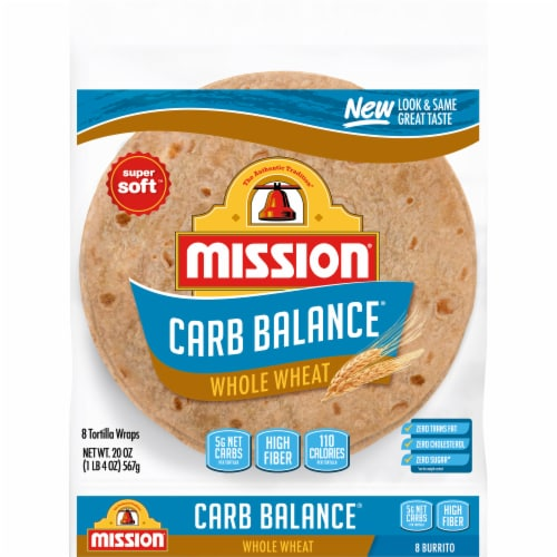 Mission Carb Balance Whole Wheat Burrito Tortillas 8 Count Perspective: front