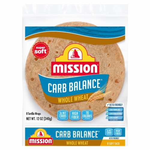 Mission Carb Balance Whole Wheat Tortillas 8 Count Perspective: front