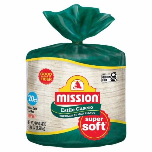 Mission Estilo Casero Corn Tortillas Perspective: front