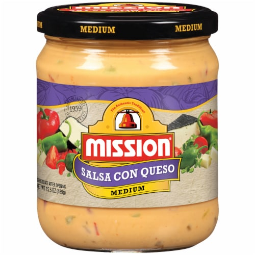 Mission Medium Salsa Con Queso Perspective: front