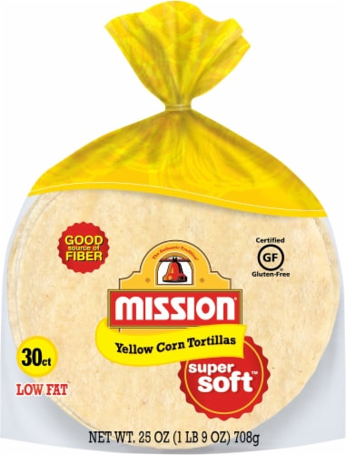 Mission Super Soft Yellow Corn Tortillas 30 Count Perspective: front