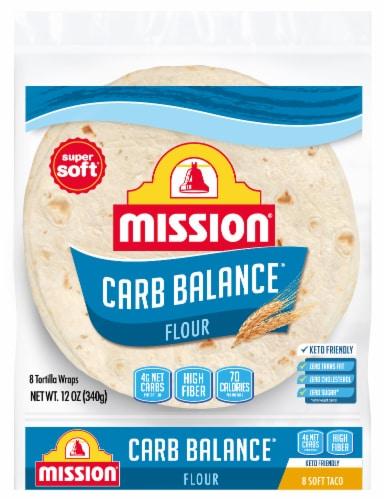 Mission Carb Balance Soft Taco Flour Tortillas 8 Count Perspective: front