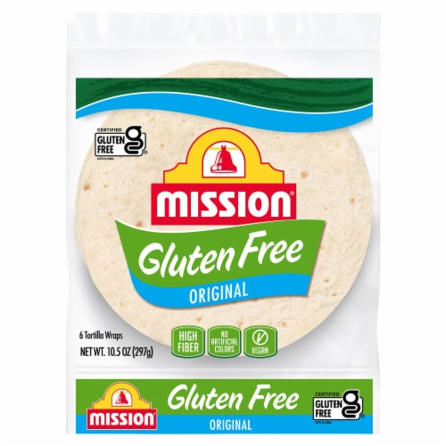 Mission Gluten Free Soft Taco Tortillas 6 Count Perspective: front