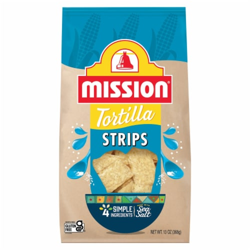 Mission Sea Salt Tortilla Strips Perspective: front