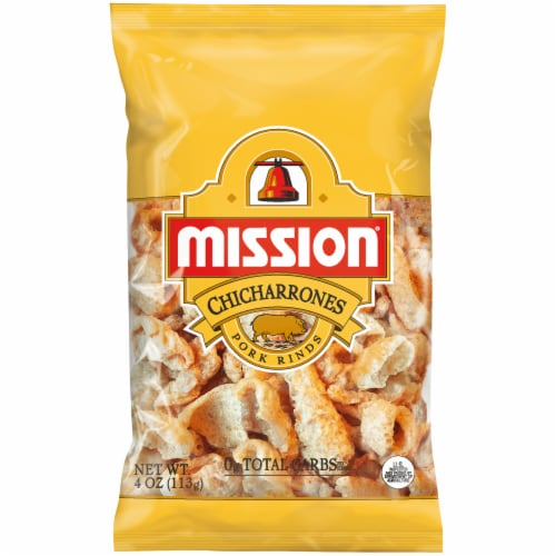 Mission Chicharrones Pork Rinds Perspective: front