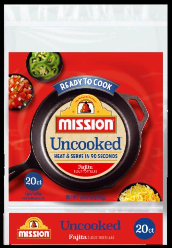 Mission Uncooked Fajita Flour Tortillas Perspective: front