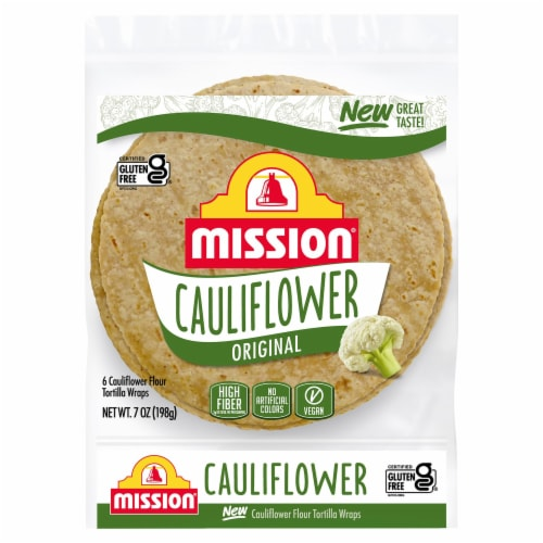 Mission Gluten Free Cauliflower Flour Tortilla Wraps Perspective: front