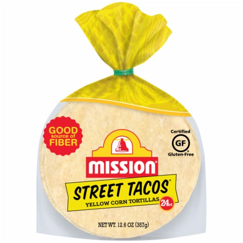 Mission Street Tacos Yellow Corn Tortillas Perspective: front